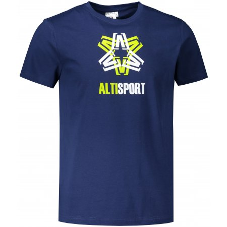 Pánské triko ALTISPORT ALM046129 PŮLNOČNÍ MODRÁ