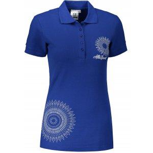 Dámské triko s límečkem ALTISPORT ALW024210 KRÁLOVSKÁ MODRÁ