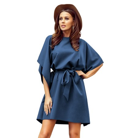 Dámské šaty NUMOCO A287-7 MODRÁ
