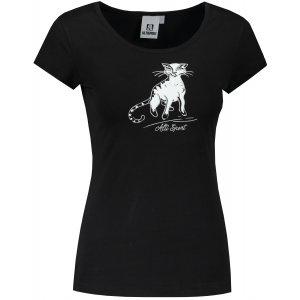 Dámské triko ALTISPORT ALW052122 ČERNOBÍLÁ