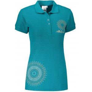 Dámské triko s límečkem ALTISPORT ALW024210 TMAVÝ TYRKYS