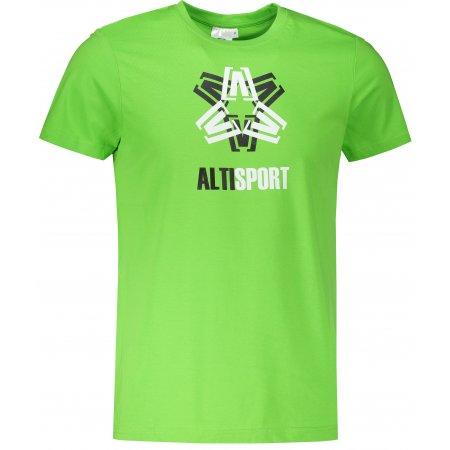 Pánské triko ALTISPORT ALM046129 APPLE GREEN
