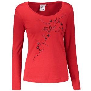 Dámské triko s dlouhým rukávem ALTISPORT ALW009169 ČERVENÁ