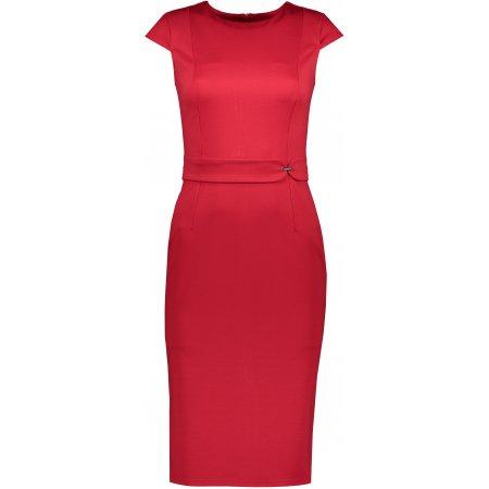 Dámské šaty NUMOCO A301-2 ČERVENÁ