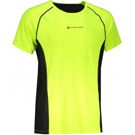 Pánské funkční triko ALPINE PRO LEON 2 MTST585 SVÍTIVĚ ŽLUTÁ