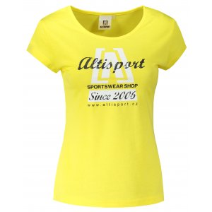 Dámské triko ALTISPORT ALW047122 CITRÓNOVÁ