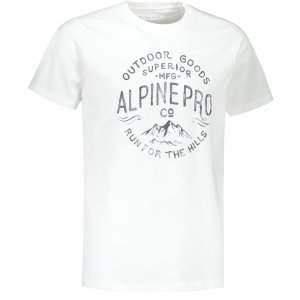 Pánské triko ALPINE PRO UNEG 9 MTST578 BÍLÁ