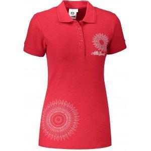 Dámské triko s límečkem ALTISPORT ALW024210 ČERVENÁ