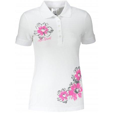Dámské triko s límečkem ALTISPORT ALW016210 BÍLÁ