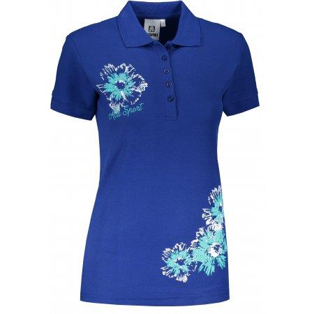 Dámské triko s límečkem ALTISPORT ALW016210 KRÁLOVSKÁ MODRÁ