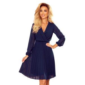Dámské šaty NUMOCO ISABELLE A313-6 TMAVĚ MODRÁ