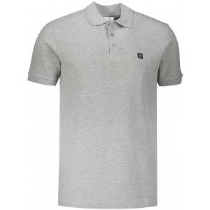 Pánské triko s límečkem ALTISPORT ALM065203 TMAVĚ ŠEDÝ MELÍR