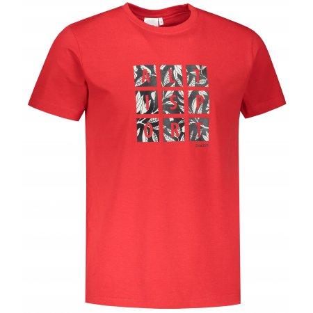 Pánské triko ALTISPORT ALM063129 ČERVENÁ