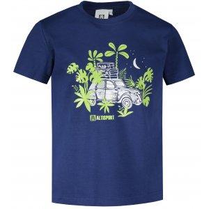 Dětské triko ALTISPORT ALK059138 PŮLNOČNÍ MODRÁ