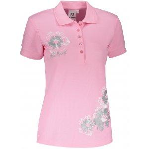Dámské triko s límečkem ALTISPORT ALW016210 SVĚTLE RŮŽOVÁ