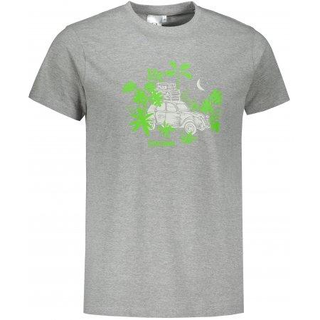 Pánské triko ALTISPORT ALM059129 TMAVĚ ŠEDÝ MELÍR