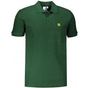 Pánské triko s límečkem ALTISPORT ALM065203 LAHVOVĚ ZELENÁ