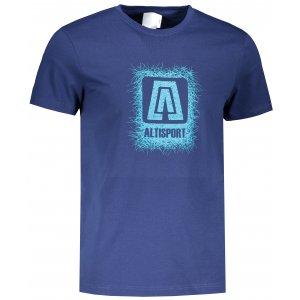 Pánské triko ALTISPORT ALM064129 PŮLNOČNÍ MODRÁ
