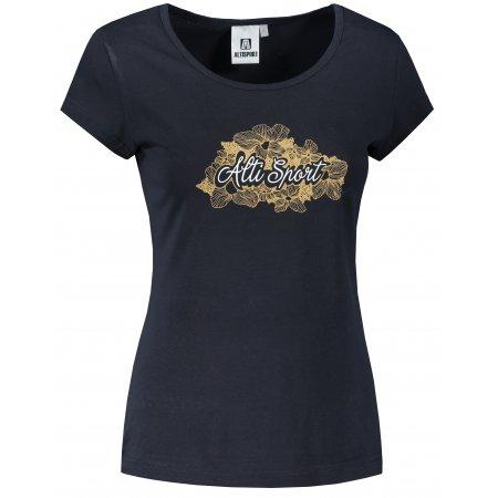 Dámské triko ALTISPORT ALW057122 NÁMOŘNÍ MODRÁ/ZLATÁ