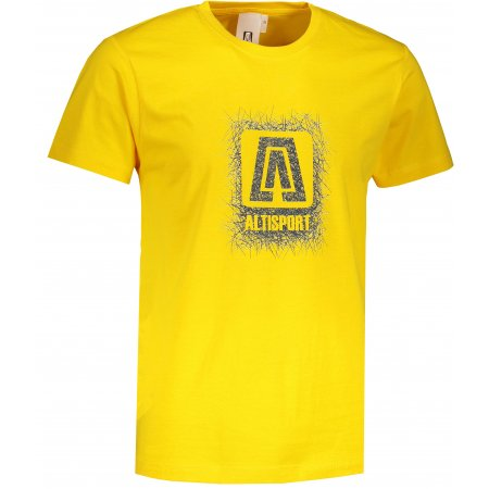 Pánské triko ALTISPORT ALM064129 ŽLUTÁ