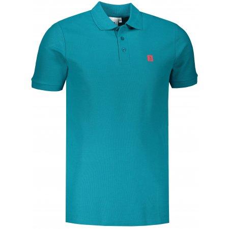 Pánské triko s límečkem ALTISPORT ALM065203 TMAVÝ TYRKYS