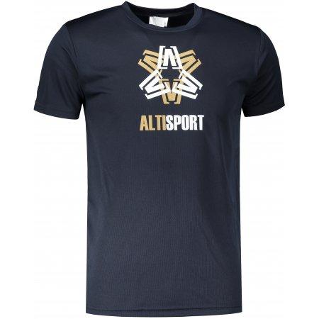 Pánské funkční triko ALTISPORT ALM046124 NÁMOŘNÍ MODRÁ