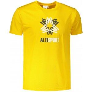 Pánské funkční triko ALTISPORT ALM046124 ŽLUTÁ