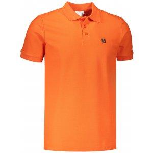 Pánské triko s límečkem ALTISPORT ALM065203 ORANŽOVÁ
