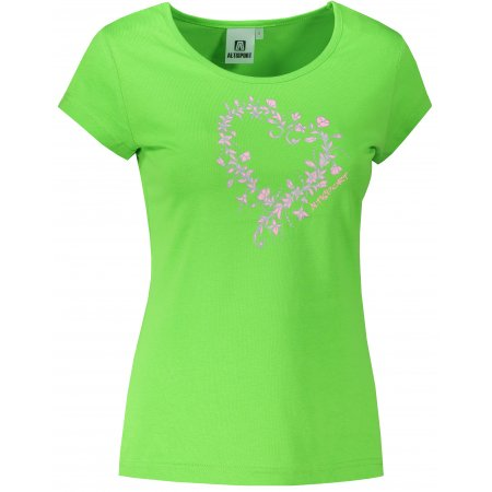 Dámské triko ALTISPORT ALW058122 APPLE GREEN