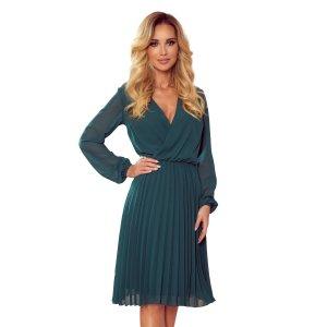 Dámské šaty NUMOCO ISABELLE A313-1 ZELENÁ