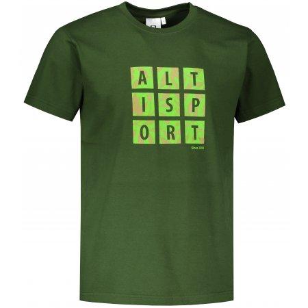 Pánské triko ALTISPORT ALM063129 LAHVOVĚ ZELENÁ