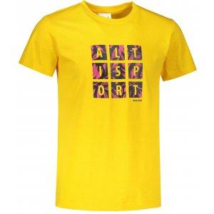 Pánské triko ALTISPORT ALM063129 ŽLUTÁ