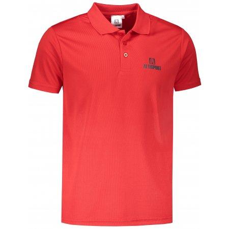 Pánské funkční triko s límečkem ALTISPORT ALM006217 ČERVENÁ