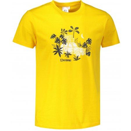 Pánské triko ALTISPORT ALM059129 ŽLUTÁ