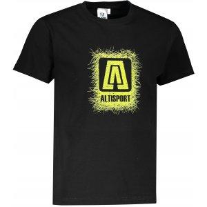 Pánské triko ALTISPORT ALM064129 ČERNOZELENÁ