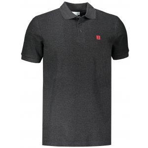 Pánské triko s límečkem ALTISPORT ALM065203 ANTRACITOVÝ MELÍR