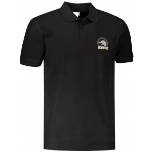 Pánské triko s límečkem ALTISPORT ALM071203 ČERNOZLATÁ