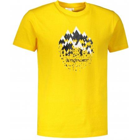 Pánské triko ALTISPORT ALM068129 ŽLUTÁ
