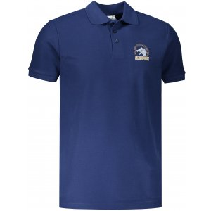 Pánské triko s límečkem ALTISPORT ALM071203 PŮLNOČNÍ MODRÁ