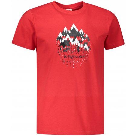 Pánské triko ALTISPORT ALM068129 ČERVENÁ