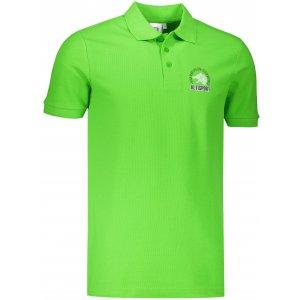 Pánské triko s límečkem ALTISPORT ALM071203 APPLE GREEN