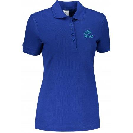 Dámské triko s límečkem ALTISPORT ALW056210 KRÁLOVSKÁ MODRÁ
