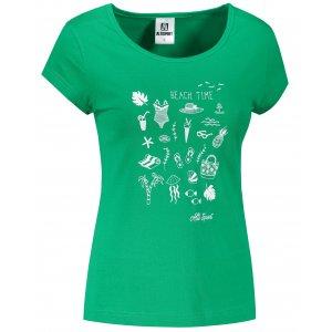 Dámské triko ALTISPORT ALW104122 STŘEDNĚ ZELENÁ