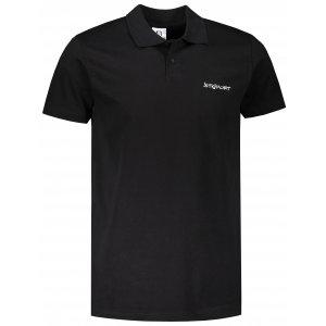 Pánské triko s límečkem ALTISPORT ALM110202 ČERNOBÍLÁ