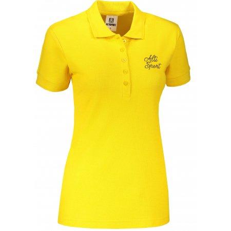 Dámské triko s límečkem ALTISPORT ALW056210 ŽLUTÁ