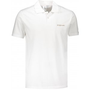 Pánské triko s límečkem ALTISPORT ALM110202 BÍLOZLATÁ