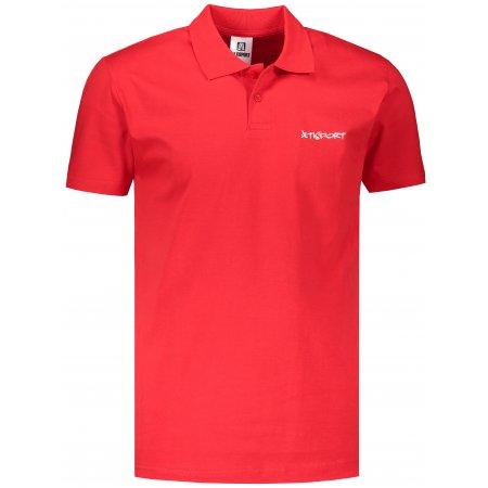 Pánské triko s límečkem ALTISPORT ALM110202 ČERVENÁ