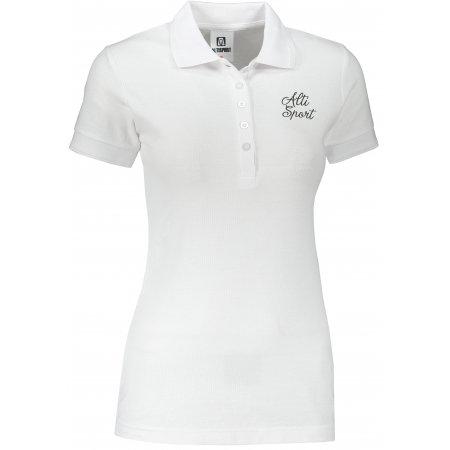 Dámské triko s límečkem ALTISPORT ALW056210 BÍLOČERNÁ
