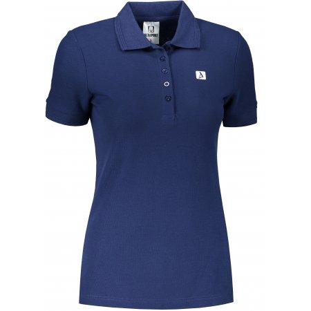 Dámské triko s límečkem ALTISPORT ALW065210 PŮLNOČNÍ MODRÁ