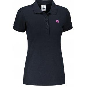 Dámské triko s límečkem ALTISPORT ALW065210 NÁMOŘNÍ MODRÁ
